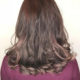 透明感 外国人風 ナチュラル ラベンダーピンク ヘアスタイルや髪型の写真・画像
