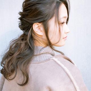 結婚式 フェミニン アンニュイほつれヘア ヘアアレンジ ヘアスタイルや髪型の写真・画像