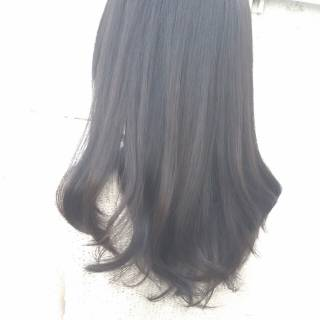 大人かわいい 艶髪 ナチュラル 黒髪 ヘアスタイルや髪型の写真・画像