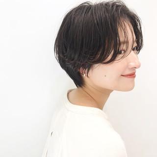 ベリーショート ショート インナーカラー ミニボブ ヘアスタイルや髪型の写真・画像