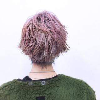 ガーリー ウェットヘア ショート ハイトーン ヘアスタイルや髪型の写真・画像