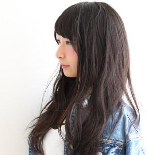 暗髪 黒髪 ナチュラル ピュア ヘアスタイルや髪型の写真・画像