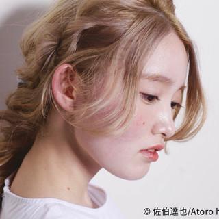 外国人風 ロング ゆるふわ ヘアアレンジ ヘアスタイルや髪型の写真・画像