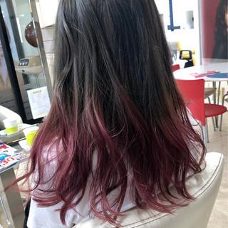 グラデーションカラー ナチュラル ダメージレス ロング ヘアスタイルや髪型の写真・画像