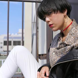 暗髪 黒髪 外国人風 ナチュラル ヘアスタイルや髪型の写真・画像