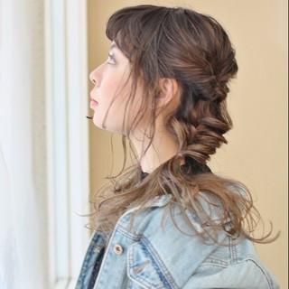 ヘアアレンジ 簡単ヘアアレンジ ショート ツインテール ヘアスタイルや髪型の写真・画像 ヘアスタイルや髪型の写真・画像