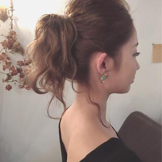 ショート 大人女子 セミロング ヘアアレンジ ヘアスタイルや髪型の写真・画像