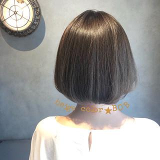 デート ボブ アンニュイ コンサバ ヘアスタイルや髪型の写真・画像