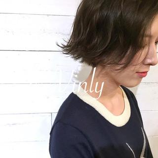 ボブ ナチュラル アンニュイ バレンタイン ヘアスタイルや髪型の写真・画像