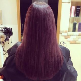 ロング レッド ガーリー 外国人風 ヘアスタイルや髪型の写真・画像