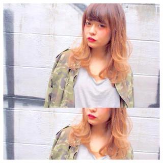 ストリート 外国人風 ラフ ハイライト ヘアスタイルや髪型の写真・画像