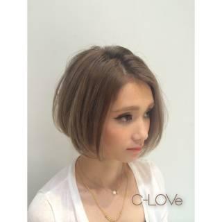 グラデーションカラー 外国人風 ボブ モテ髪 ヘアスタイルや髪型の写真・画像
