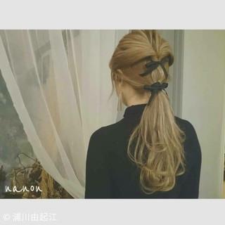 スポーツ ロング デート アウトドア ヘアスタイルや髪型の写真・画像