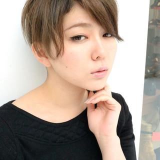 外国人風 マッシュ 大人かわいい ショート ヘアスタイルや髪型の写真・画像