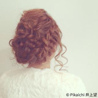 簡単ヘアアレンジ ヘアアレンジ ロング ラフ ヘアスタイルや髪型の写真・画像