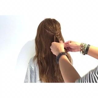 簡単ヘアアレンジ 上品 三つ編み ヘアアレンジ ヘアスタイルや髪型の写真・画像 ヘアスタイルや髪型の写真・画像