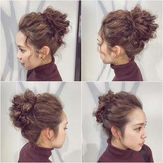 外国人風 ヘアアレンジ フェミニン 大人かわいい ヘアスタイルや髪型の写真・画像 ヘアスタイルや髪型の写真・画像