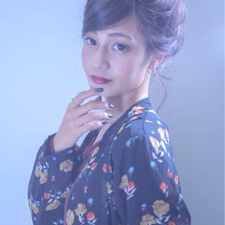 成人式 外国人風カラー ヘアアレンジ 二次会 ヘアスタイルや髪型の写真・画像