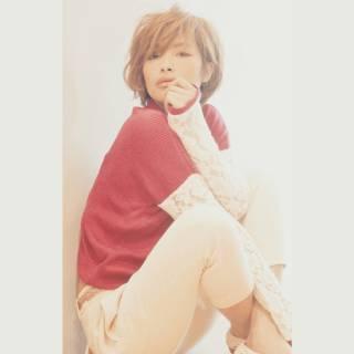 外国人風 ショート モテ髪 ナチュラル ヘアスタイルや髪型の写真・画像