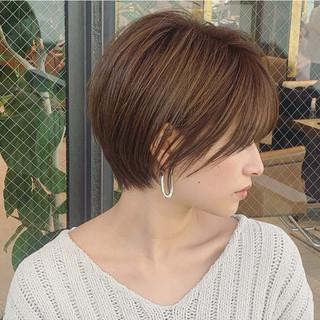 大人かわいい ショートボブ 大人ショート ナチュラル ヘアスタイルや髪型の写真・画像