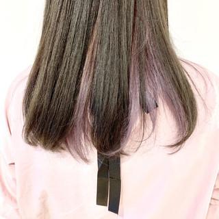ロング ブリーチ ガーリー ダブルカラー ヘアスタイルや髪型の写真・画像