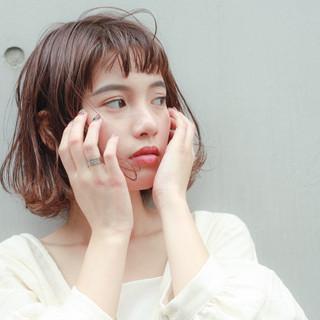 オフィス 女子力 大人かわいい ショートボブ ヘアスタイルや髪型の写真・画像