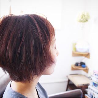 モーブ ナチュラル ベージュ 色気 ヘアスタイルや髪型の写真・画像