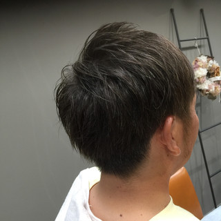 アッシュ ボーイッシュ ナチュラル ショート ヘアスタイルや髪型の写真・画像