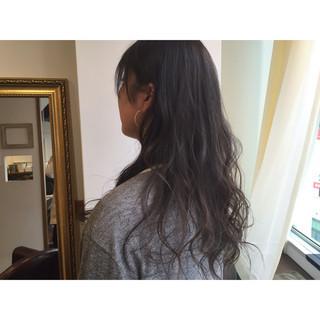 ロング 暗髪 透明感 ストリート ヘアスタイルや髪型の写真・画像