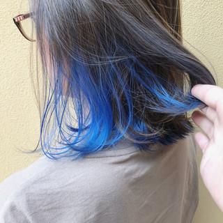 ダブルカラー ストリート ユニコーン ボブ ヘアスタイルや髪型の写真・画像