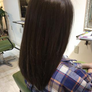 セミロング ハイライト アッシュベージュ グラデーションカラー ヘアスタイルや髪型の写真・画像 ヘアスタイルや髪型の写真・画像