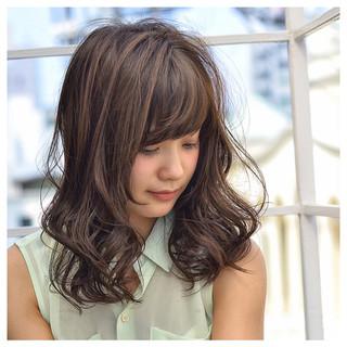 ゆるふわ かわいい パーマ ミディアム ヘアスタイルや髪型の写真・画像 ヘアスタイルや髪型の写真・画像