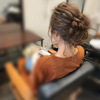 アップ ヘアセット アップスタイル ヘアアレンジ ヘアスタイルや髪型の写真・画像