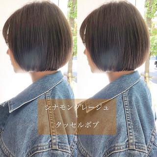 ヘアアレンジ デート 黒髪 ショートボブ ヘアスタイルや髪型の写真・画像