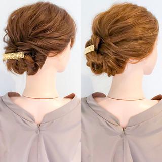 結婚式 ヘアアレンジ エレガント 上品 ヘアスタイルや髪型の写真・画像