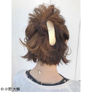 ショート 夏 涼しげ ヘアアレンジ ヘアスタイルや髪型の写真・画像