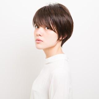 ショート ベリーショート モード 似合わせ ヘアスタイルや髪型の写真・画像