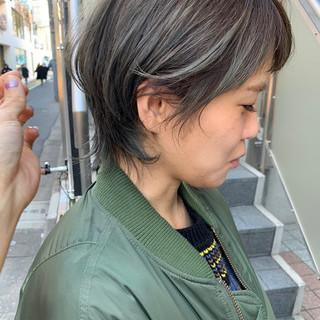 モード ウルフカット ボブ ショートヘア ヘアスタイルや髪型の写真・画像