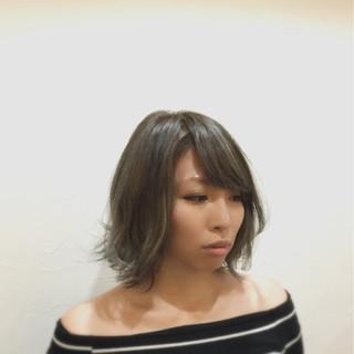 外国人風カラー アッシュ モード ボブ ヘアスタイルや髪型の写真・画像 ヘアスタイルや髪型の写真・画像