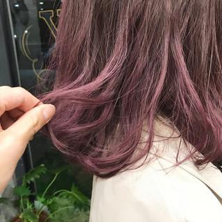 ブリーチ ストリート パープル ピンク ヘアスタイルや髪型の写真・画像
