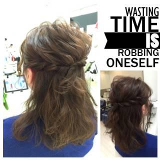 愛され モテ髪 編み込み ヘアアレンジ ヘアスタイルや髪型の写真・画像