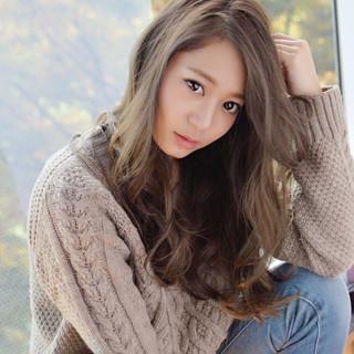 外国人風 ロング 大人かわいい アッシュ ヘアスタイルや髪型の写真・画像