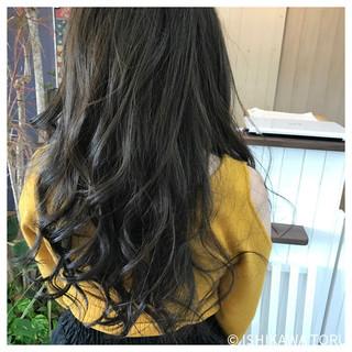 ロング ゆるふわ ナチュラル アッシュ ヘアスタイルや髪型の写真・画像