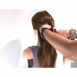 ロング 夏 涼しげ ヘアアレンジ ヘアスタイルや髪型の写真・画像