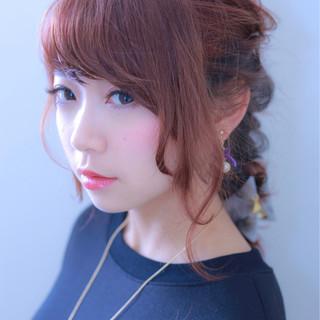 ピンク パープル インナーカラー ストリート ヘアスタイルや髪型の写真・画像