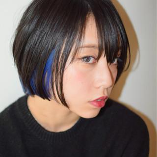 モード ウェットヘア インナーカラー かっこいい ヘアスタイルや髪型の写真・画像