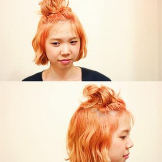 ヘアアレンジ 簡単ヘアアレンジ ハーフアップ 夏 ヘアスタイルや髪型の写真・画像