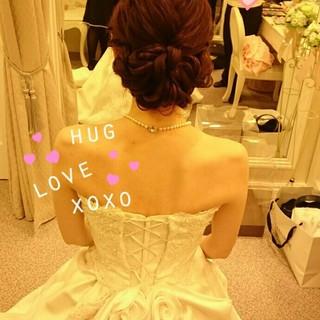二次会 結婚式 ゆるふわ ロング ヘアスタイルや髪型の写真・画像