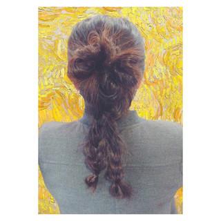 ヘアアレンジ セミロング 簡単ヘアアレンジ ルーズ ヘアスタイルや髪型の写真・画像