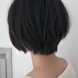 ハンサムショート アンニュイほつれヘア ショート 秋冬ショート ヘアスタイルや髪型の写真・画像
